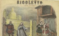 [Enregistrements sonores] / Rigoletto, opéra de Verdi : [estampe] / A. Lecocq [sig.], 1863 - source : gallica.bnf.fr / BnF