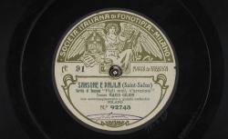 """Sansone e Dalila. Sortita di Sansone : """"Figli miei, v'an restate"""" ; Camille Saint-Saëns, comp. ; Mario Gilion, ténor ; acc. d'orchestre - source : gallica.bnf.fr / BnF"""