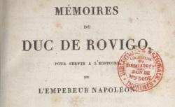 """Accéder à la page """"Savary, Mémoires du duc de Rovigo"""""""