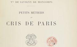 """Accéder à la page """"Petits métiers et cris de Paris"""""""