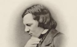 Robert Schumann, cliché de J. Ganz, d'après un daguerréotype - source : gallica.bnf.fr / BnF