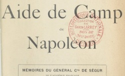"""Accéder à la page """"Ségur, général comte Philippe de, Mémoires"""""""