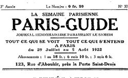 """Accéder à la page """"Semaine parisienne (La)"""""""