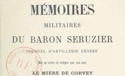 """Accéder à la page """"Séruzier, baron, Mémoires militaires"""""""