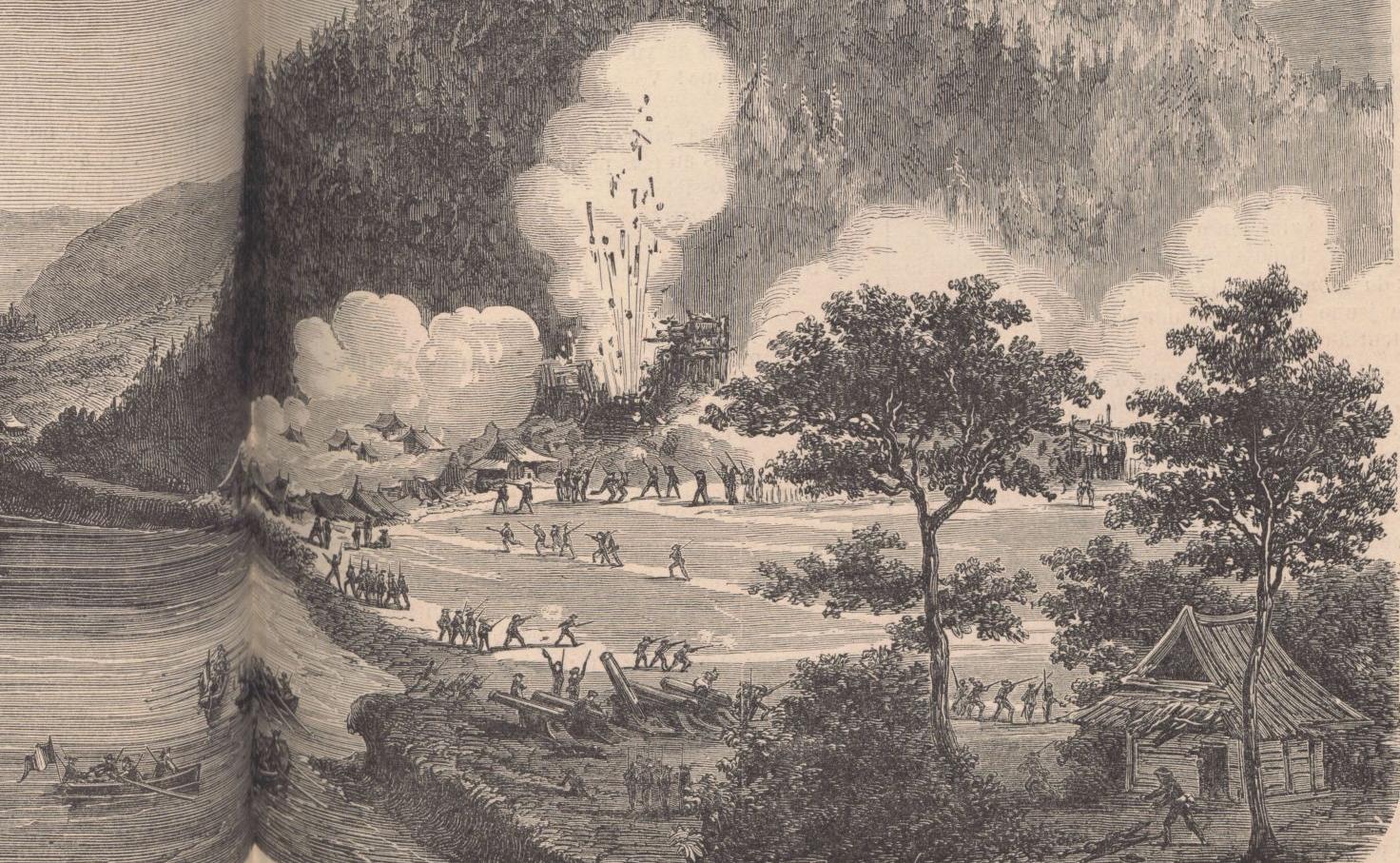 """""""L'aviso à vapeur Le Kien-Chan..."""" Le Monde illustré, 10/10/1863. FOL-LC2-2943. p. 232"""