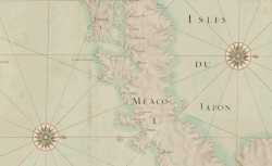 Carte particulière des isles du Japon et partie des costes de la Chine, 16.., CPL GE SH 18 PF 178 DIV 1 P 1