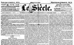 """Accéder à la page """"Siècle (Le)"""""""