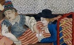 Chirugien opérant un malade. Bankan-zu. Dpt des Manuscrits. Smith-lesouëf japonais 188