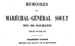 """Accéder à la page """"Soult, maréchal, Mémoires"""""""