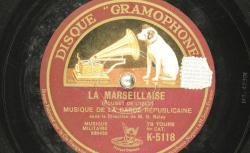 Disque NC Gramophone K 5118 - L'orchestre Sousa est un ensemble américain fondé par John Philip Sousa en 1882, directeur de la United States Marine Band lorsqu'il créa l'orchestre qui porte son nom- source : BnF/gallica.bnf.fr