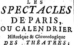 """Accéder à la page """"Spectacles de Paris (Les)"""""""