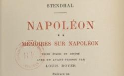 """Accéder à la page """"Stendhal, Mémoires sur Napoléon"""""""