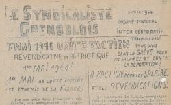 """Accéder à la page """"Syndicaliste grenoblois (Le)"""""""