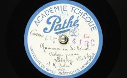 Romance : en si bémol ; Zdenĕk Fibich, comp. ; Boh. Lhotsky et Karel Šolc, violon et piano - source : BnF/gallica.bnf.fr