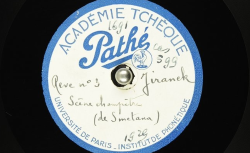 Rêve n°3. [En Bohême]. Scène champêtre, Ière partie / Bedřich Smetana, comp. ; Hubert Pernot, collecteur ; Josef Jiránek, piano - source : BnF/gallica.bnf.fr