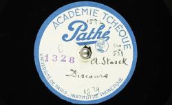 [Enregistrement sonore] Discours / Hubert Pernot, collecteur ; Antal Stašek, voix parlée - source : BnF/gallica.bnf.fr