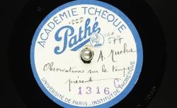[Enregistrement sonore] Observations sur le temps présent / Hubert Pernot, collecteur ; Alfons Mucha, voix parlée - source : BnF/gallica.bnf.fr