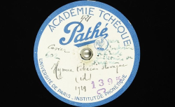Hymne tchécoslovaque / Hubert Pernot, collecteur ; Orchestre de l'Ecole militaire de musique de Prague (dir. Cdt Prokop Oberthor) - source : BnF/gallica.bnf.fr