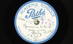 Romance : en si bémol ; Zdenĕk Fibich, comp. ; Boh. Lhotsky et Karel Šolc, violon et piano - source BnF/gallica.bnf.fr