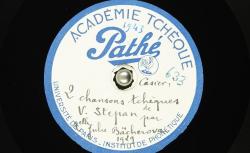 Deux chansons tchèques / Hubert Pernot, collecteur ; Julie Nessy-Bächerová, chant ; Dr. Václav Štěpán, piano - source : BnF/gallica.bnf.fr
