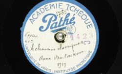 [Enregistrement sonore] Quatre chansons slovaques / Hubert Pernot, collecteur ; Anna Bartošíková, chant - source : BnF / gallica.bnf.fr
