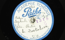 Electre / Sophocle, auteur ; L. [Leopolda] Dostalova, voix parlée - source : BnF/gallica.bnf.fr