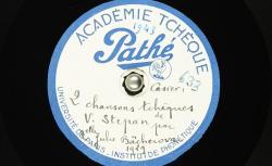 [Enregistrement sonore] Deux chansons tchèques / Hubert Pernot, collecteur ; Julie Nessy-Bächerová, chant ; Dr. Václav Štěpán, piano - source : BnF / gallica.bnf.fr