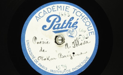 Poésie de Otokar Březina / Hubert Pernot, collecteur ; Anna Iblová, voix parlée - source : BnF/gallica.bnf.fr