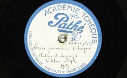 Trois poèmes en tchèque / Hubert Pernot, collecteur ; Viktor Dyk, voix parlée - source : BnF/gallica.bnf.fr