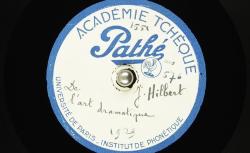 De l'art dramatique / [Jaroslav] Hilbert, auteur ; [Jaroslav] Hilbert, voix parlée - source : BnF/gallica.bnf.fr