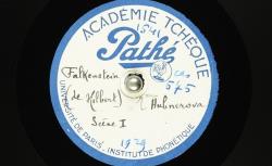 Falkenstein [i.e. Falkenštejn] : scène I / [Jaroslav] Hilbert, auteur ; Hubert Pernot, collecteur ; Mme [ Marie ] Hübnerová , voix parlée - source : BnF/gallica.bnf.fr