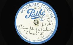Poème dit par l'auteur : Sborov II ; Hubert Pernot, collecteur ; Rudolf Medek, voix parlée - source : BnF/gallica.bnf.fr