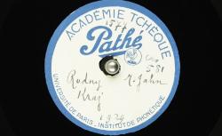 Rodný Kraj / [ Metoděj Jahn], auteur ; Hubert Pernot, collecteur ; Metoděj Jahn, voix parlée - source : BnF/gallica.bnf.fr