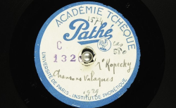 Chansons valaques / Hubert Pernot, collecteur ; Matĕj Kopecky, chant - source : BnF/gallica.bnf.fr