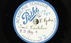 Smir Tantaluv : rôle de Tantalos ; Hubert Pernot, collecteur ; [Václav] Vydra, voix parlée - source : BnF/gallica.bnf.fr