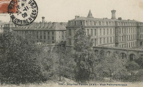 Hôpital Tenon, vue panoramique (BIU Santé) [carte postale]