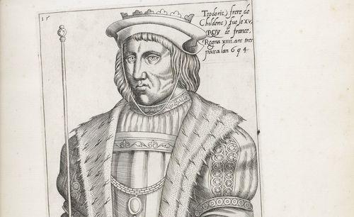 Cronica breve de i fatti illustri de re di Francia, con le loro effigie dal naturale, Giunti (Venise) 1590