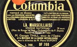 Disque NC Columbia DF 760 - Georges Thill (1897-1984) est un ténor français de l'Opéra de Paris - source : BnF/gallica.bnf.fr