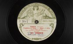 """Tosca. Preghiera di Tosca : """"Vissi d'arte"""" ; Puccini, comp. ; Amelia Talexis, soprano ; acc. de grand orchestre - source : gallica.bnf.fr / BnF"""