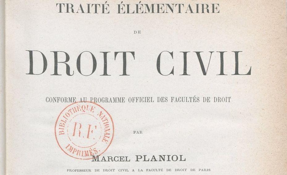 Planiol, Marcel (1853-1931)