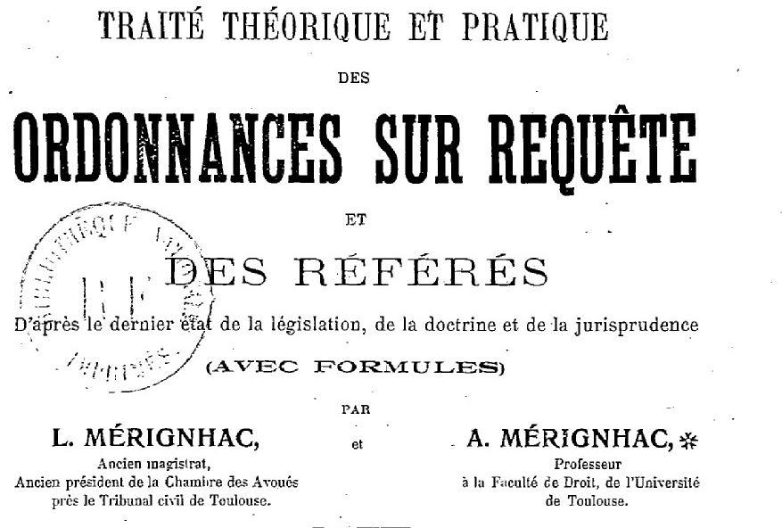 Mérignhac, Louis (1830-1912)