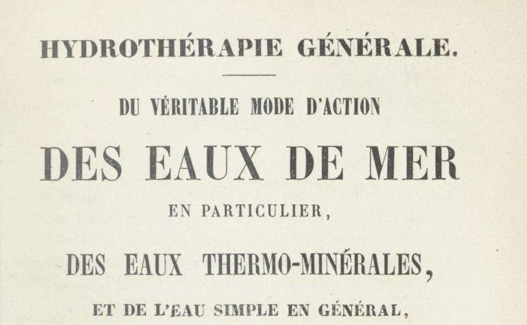 """Accéder à la page """"Traités d'hydrothérapie"""""""