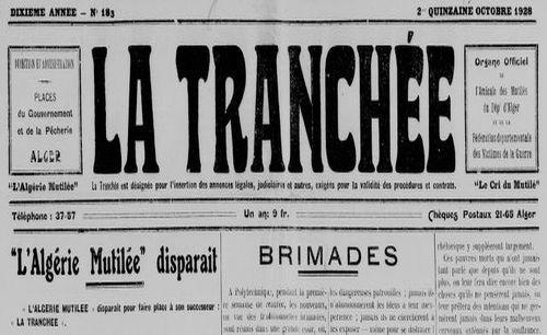 """Accéder à la page """"Tranchée (La)"""""""