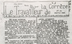 """Accéder à la page """"Travailleur de la Corrèze (Le)"""""""