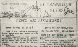 """Accéder à la page """"Travailleur sétois (Le)"""""""