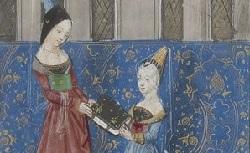 Figure de l'humanisme français: Christine de Pizan a rédigé des poèmes, des traités philosophiques, politiques, et militaires  Tresorcitedesdames_fr.1177