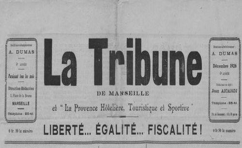 """Accéder à la page """"Tribune de Marseille et La Provence hôtelière, touristique et sportive (La)"""""""