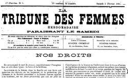 """Accéder à la page """"Tribune des femmes (La)"""""""