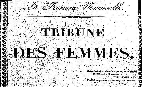 """Accéder à la page """"Femme nouvelle (La). Tribune des femmes """""""