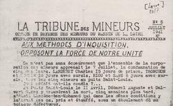 """Accéder à la page """"Tribune des mineurs (La) (bassin de la Loire)"""""""
